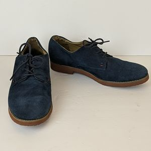 Tommy Hilfiger Honey Bee Blue Suede Oxfords